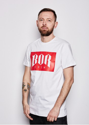 BORNEW WH/RED TS